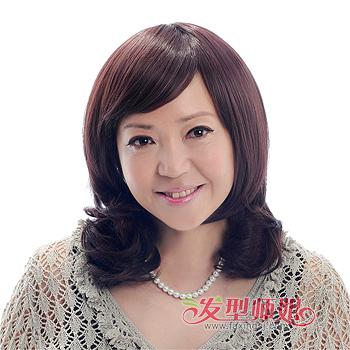 中老年妇女烫发发型图片 老年发型设计与脸型搭配(4)图片