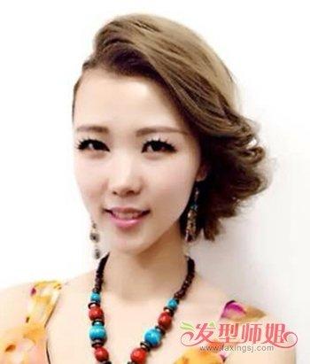 30岁妇人脸很小做什么发型脸看起来大点 适合小脸女孩图片
