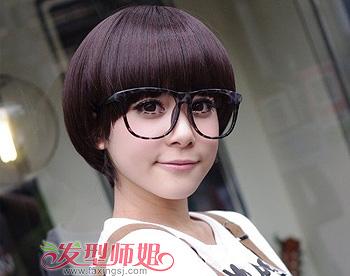 中分短发蘑菇头发型 女孩短发蘑菇头发型图片(3)