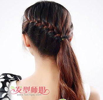 韩式花苞头盘发发型 扎花苞头的方法图解图片