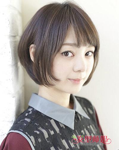 圆脸方脸脸型学生适合什么发型 赵薇这样的脸型的学生图片