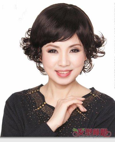 中老年女性短发发型 适合中老年女性的时尚短发发型图片(4)图片