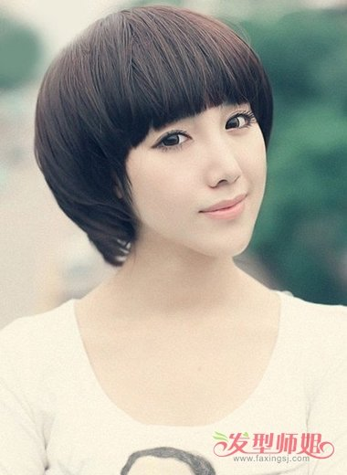 脸大的人适合什么短头发的发型 短发发型大脸图片 发型师姐图片