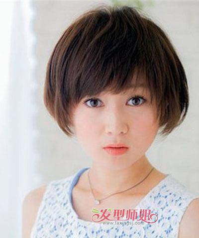 脖子短圆脸女士适合的发型 好看的适合圆脸女人的短发