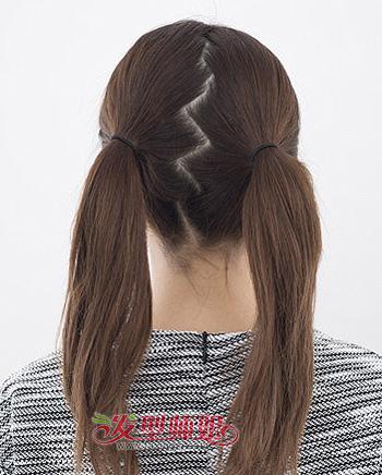 适合中学生的发型盘发步骤 学生盘头发型结实不掉图片