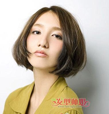 大圆脸直发发型设计_圆脸短发什么 发型 好看