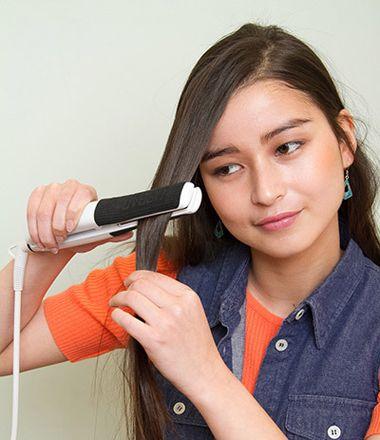 发型diy 长发扎发 >> 大脸妹怎么扎头发 脸圆又大直发扎头发的方法图片