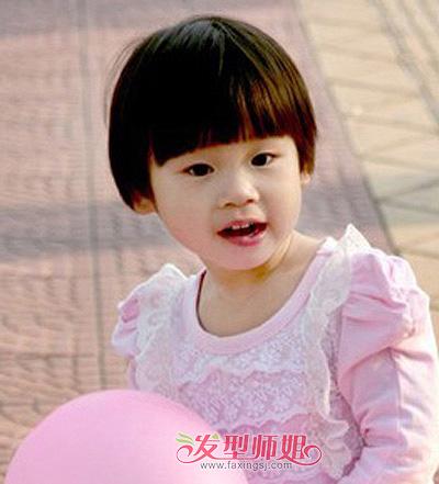 小孩子蘑菇头发型 女宝宝蘑菇头短发发型图片