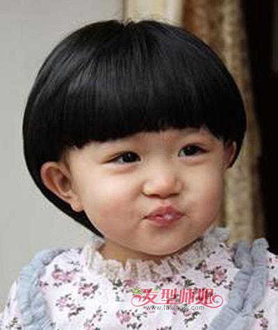 小孩子蘑菇头发型 女宝宝蘑菇头短发发型图片(4)