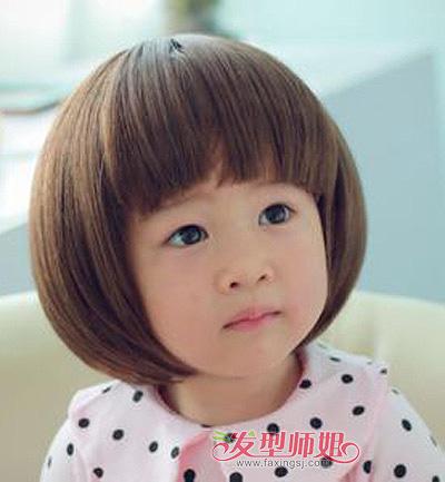女宝宝蘑菇头短发发型图片(2)图片