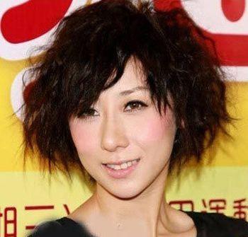 这款斜 刘海烟花烫发型十分迎合大众的审美,经过烫发的技巧将头型图片