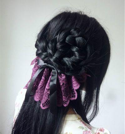 初中学生编辫子发型扎法步骤 简单学生中长发发型编法图片