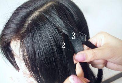 初中学生编辫子发型扎法步骤 简单学生中长发发型编法