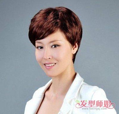中老年女性短发发型 韩国时尚老年发型图片图片