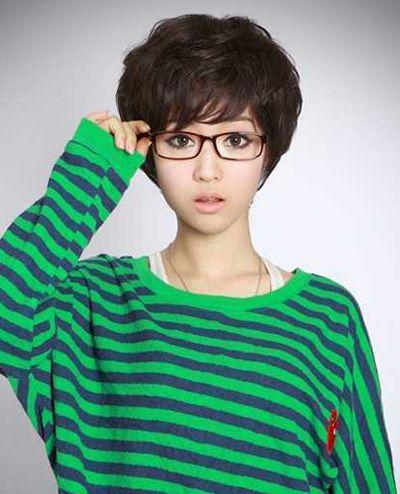 女短发纹理烫怎么打理 美女超短发纹理烫(4)图片
