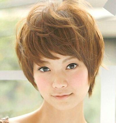 适合圆脸型的短烫发发型图片有哪些 圆脸超短发型图片