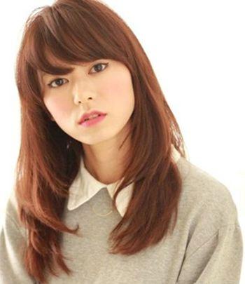 脸大的女生留什么样的刘海好看 大脸适合的刘海发型图片(4)图片
