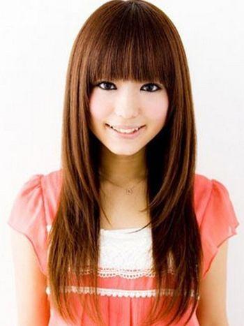 micky 分享到  这款适合方脸女生的直发发型具有着极佳的修颜减龄的图片