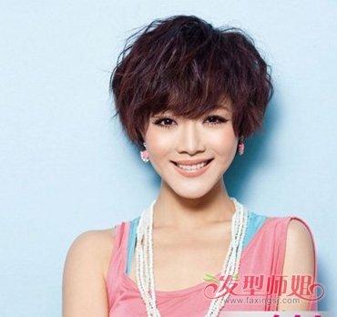 30岁大脸短发发型 大脸庞短发烫发发型图片(4)图片
