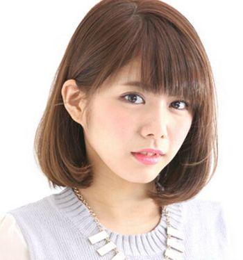 胖圆脸适合的发型图片 胖脸短发发型设计(3)
