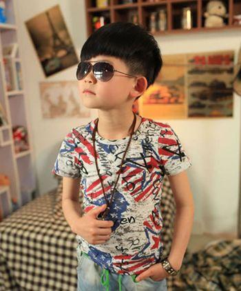 小男孩萌萌的发型设计