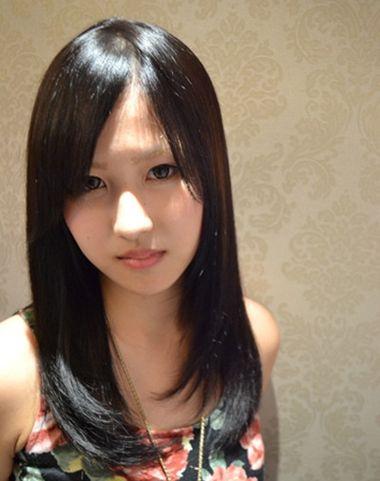 菱形脸宽下巴适合发型 长脸宽额头波浪发型(4)图片
