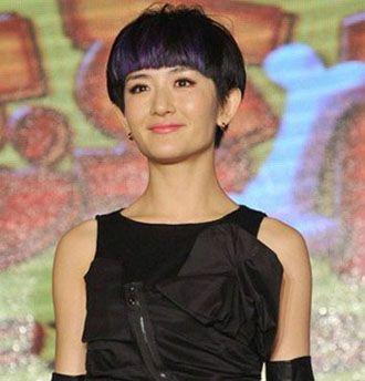 谢娜蘑菇头短发图片 女生蘑菇头短发(2)_发型师姐图片