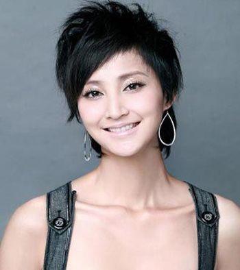 小长脸女生头发少适合的短发发型图片 长脸女生发型(4