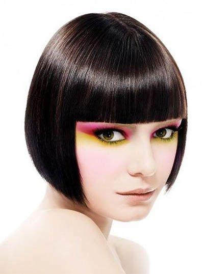 长脸适合的沙宣中长发 长脸型沙宣头发型图片图片