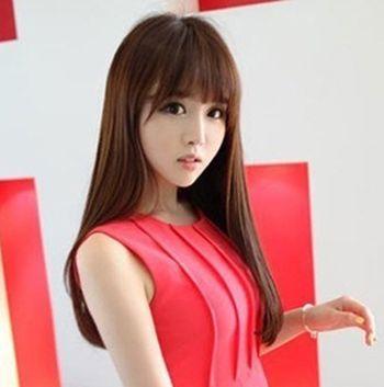 大脸适合什么刘海发型 大脸女生刘海直发发型图片(2)图片
