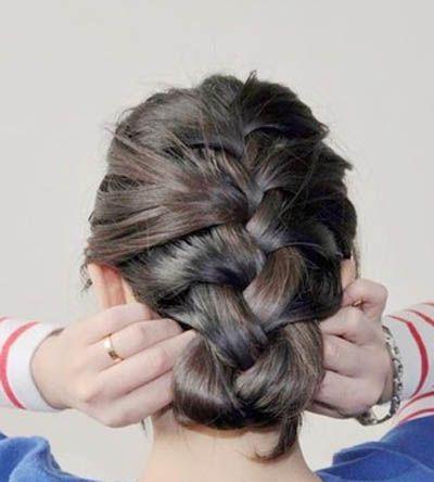 小女孩蝎子辫发型的编发步骤 小女孩蝎子辫发型diy(5)