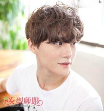 韩国男生短发卷发 最有创意的男人卷发图片图片