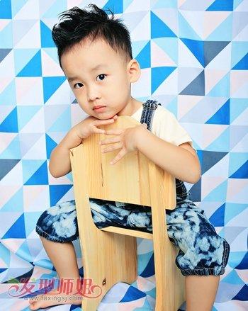 3岁男孩发型图片 韩国3岁男宝宝发型(4)