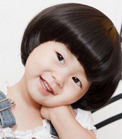 小女孩蘑菇头发型 儿童蘑菇透发型(4)