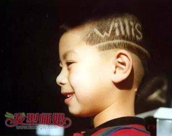 小男孩超短字母发型图片