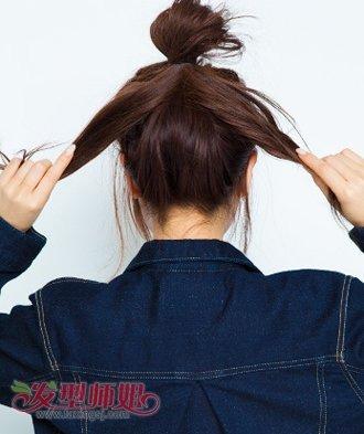 中学生盘发简单发型图解