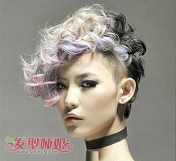 适合长脸女孩的时尚沙宣发型设计图片