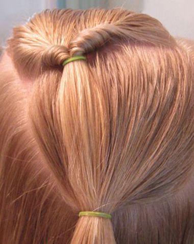 小学生马尾发型扎法图解