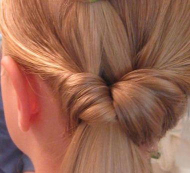 小学生马尾发型扎法图解 简单气质马尾发型图解(5)