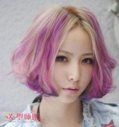 时尚短发挑染发型设计-短发发型适合挑染吗 短发烫染发型图片 发型师图片