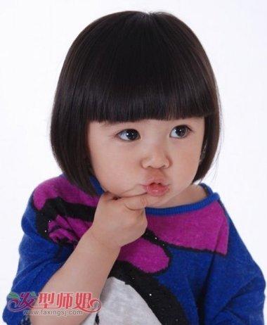 小孩子蘑菇头如何换发型 小女孩蘑菇头发型图片(3)图片