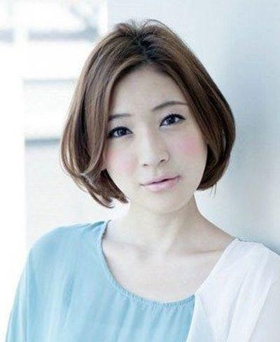 适合胖脸的中短发型 胖脸适合的短发发型图片大全 发型师姐图片