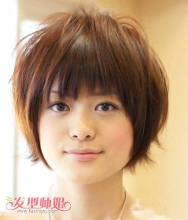 胖脸发型设计视频_方脸沙宣短发发型图片 方脸沙宣短直发发型(4)_发型师姐