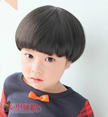 男宝宝蘑菇头发型 男宝宝蘑菇头发型设计图片