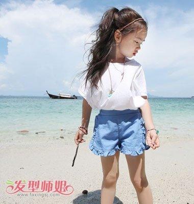 女童无刘海马尾发型 小学生无刘海马尾辫发型