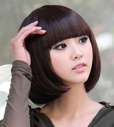 中长型的bobo头发型图片 bobo头中长发发型 发型师姐图片