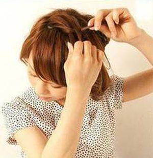 学生头短发怎样编头发 漂亮学生头编发图解(2)