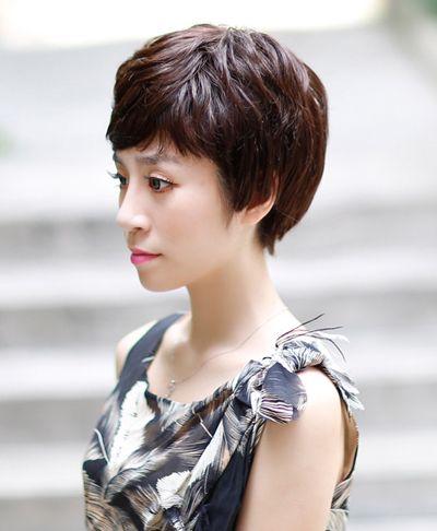 中年人大脸梳长头发还是短头发好 长脸适合短头发图片图片