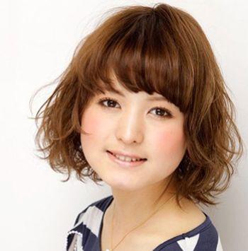 胖脸短发发型_