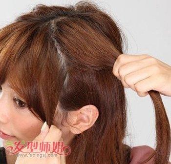 圆脸长发女生适合发型扎法步骤 胖圆脸长发扎发发型图片